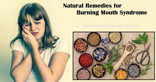 Natural Remedies for Burning Mouth Syndrome Painful Syndrome - Herbs Solutions By Nature