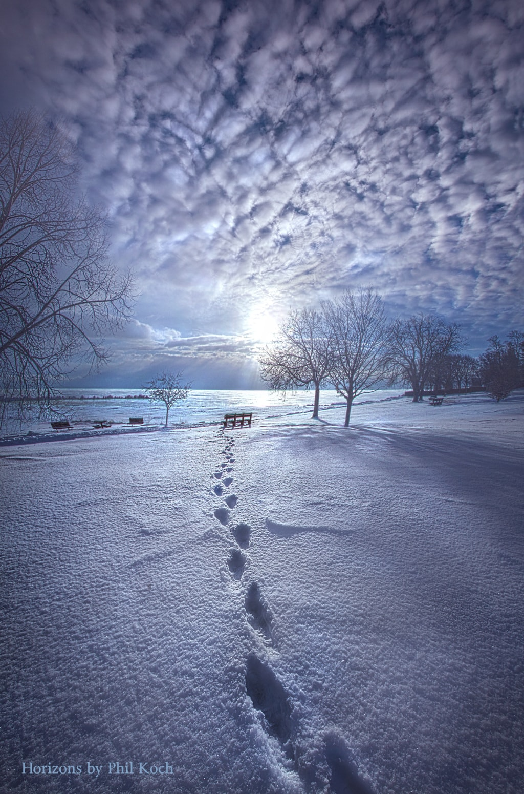 Sunrise on the shore of Lake Michigan in Racine.                                         Wisconsin H... via Phil Koch