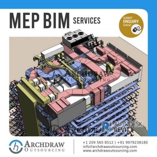 MEP BIM Modeling,Coordination, Implementation, Clash Detecti... via Archdraw Outsourcing