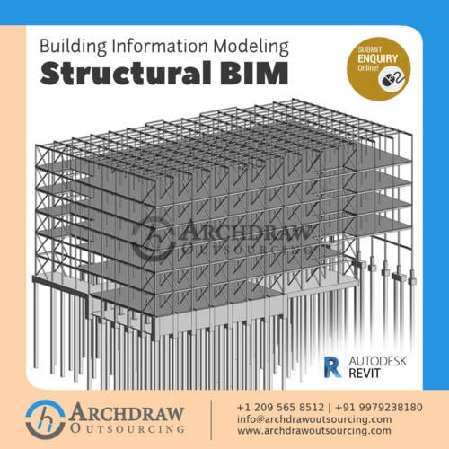 Structural BIM Services - 3D, 4D, 5D BIM via Archdraw Outsourcing
