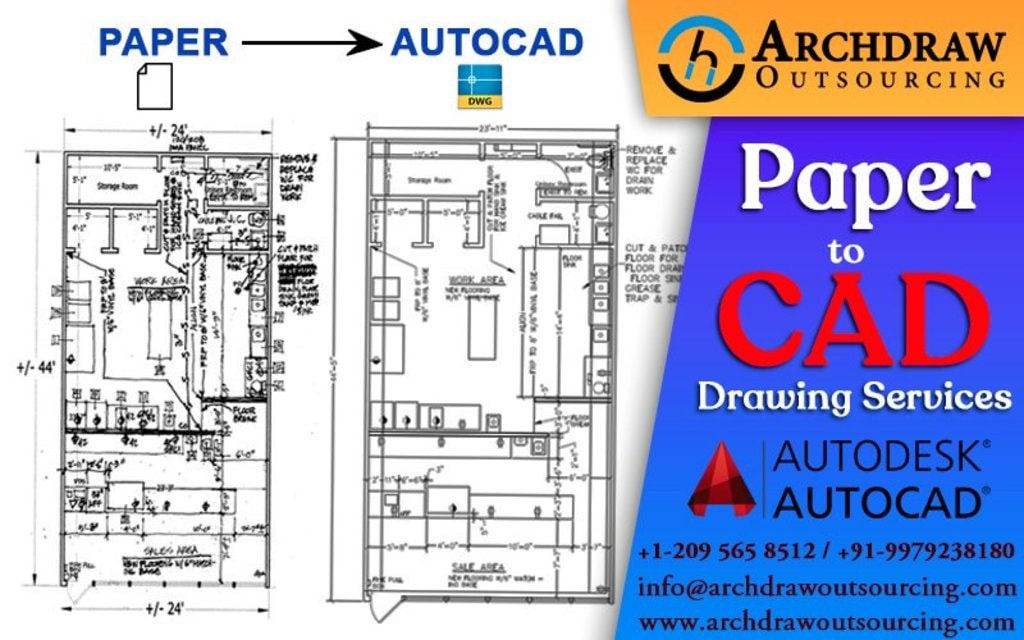 Contact us to make your construction plans in CAD files - CA... via Archdraw Outsourcing
