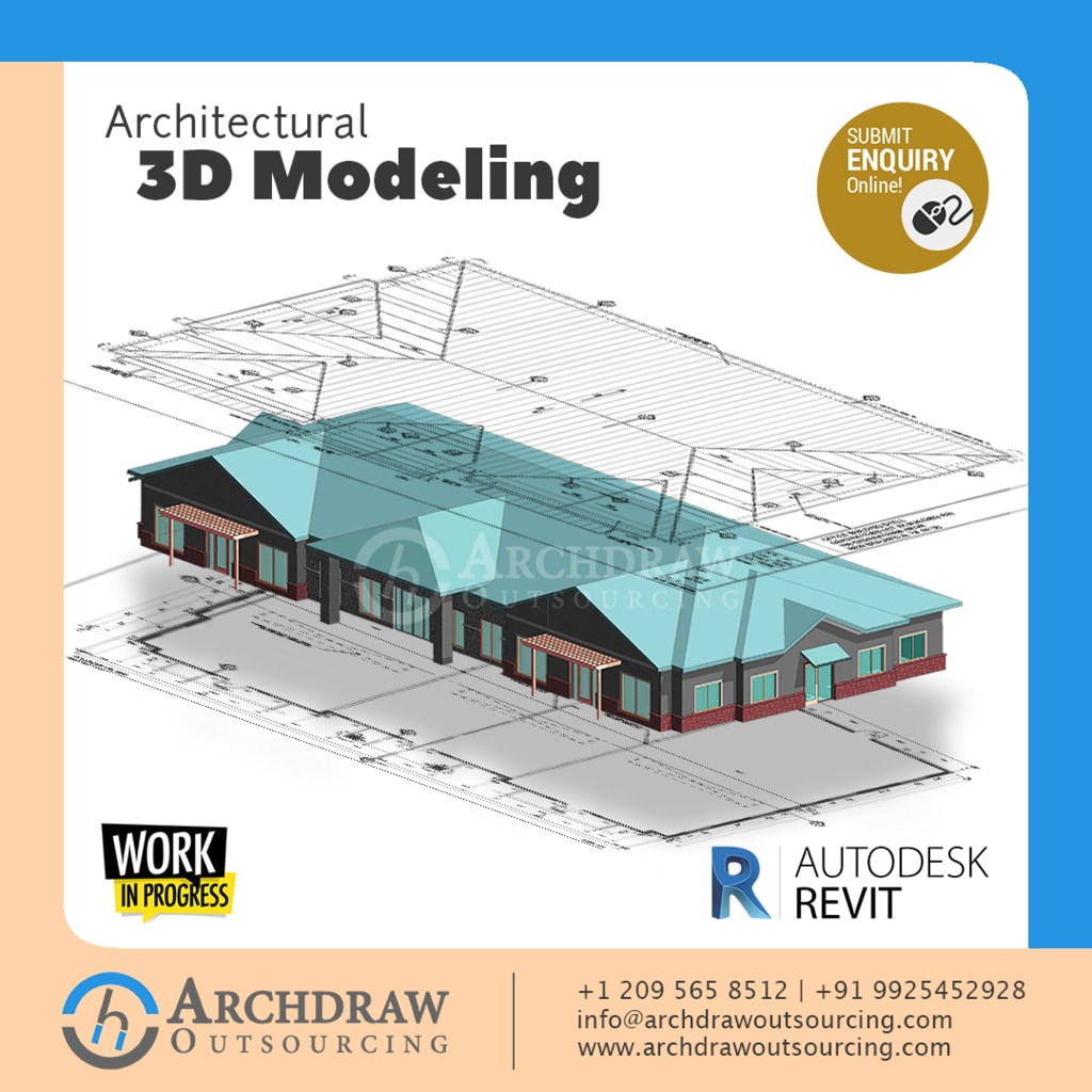 Get the Best 3D Modeling Services via Archdraw Outsourcing