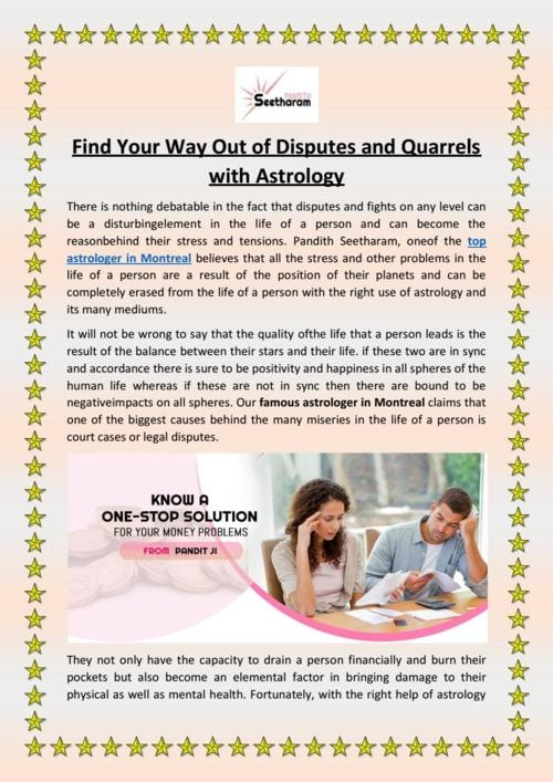 Find Your Way Out of Disputes and Quarrels with Astrology