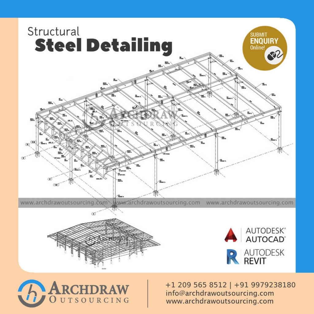 Get the best Steel Detailing Services - Archdraw Outsourcing via Archdraw Outsourcing
