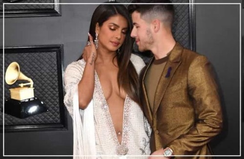 Priyanka references J Lo with a barely-there number at the Grammys