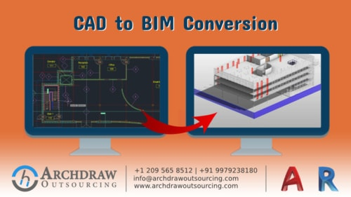 Convert your CAD file into high-quality BIM Model via Archdraw Outsourcing