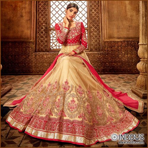 Latest Anarkali Gown via Sagar Singh
