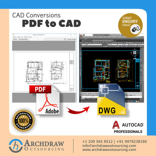 High Quality PDF to CAD Conversion Services | PDF to DWG or ... via Archdraw Outsourcing