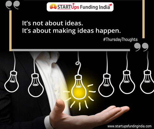It's not about IDEAS.                                     It's about making IDEAS happen.                                                                          #Thur... via Startup Funding India