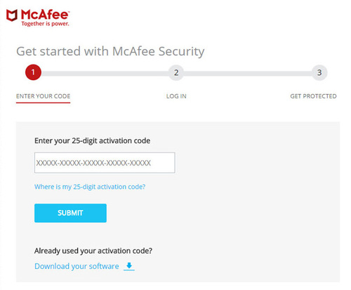 www.McAfee.com/Activate - Enter your code - McAfee Activate
