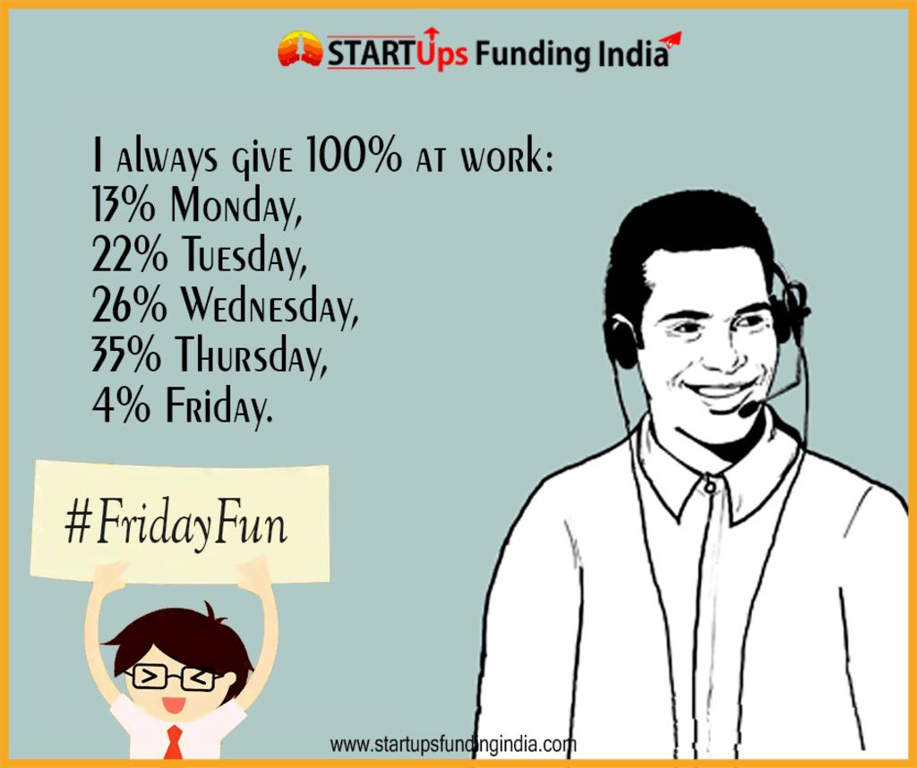 #FridayFun via Startup Funding India