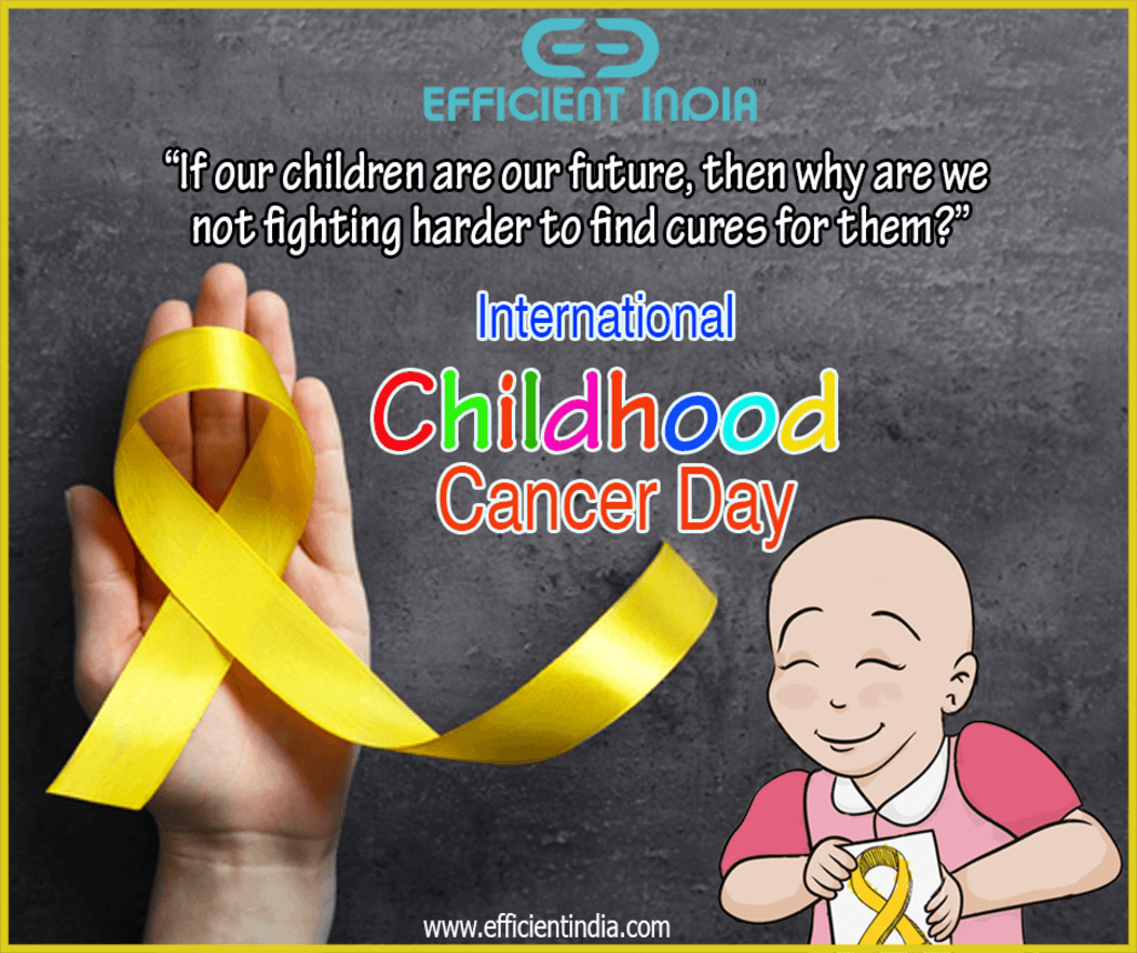International Childhood Cancer Day is a global collaborative... via Efficient India