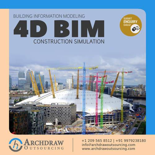 Construction Simulation 4D BIM Services – Archdraw Outsourci... via C.Chudasama