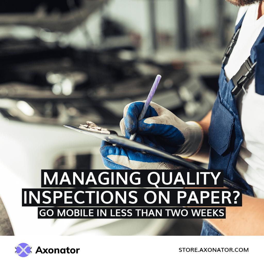 Axonator Mobile App for Quality Inspection via Axonator