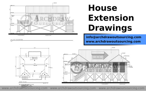 House Extension Drawing Services  - Archdraw Outsourcing via C.Chudasama