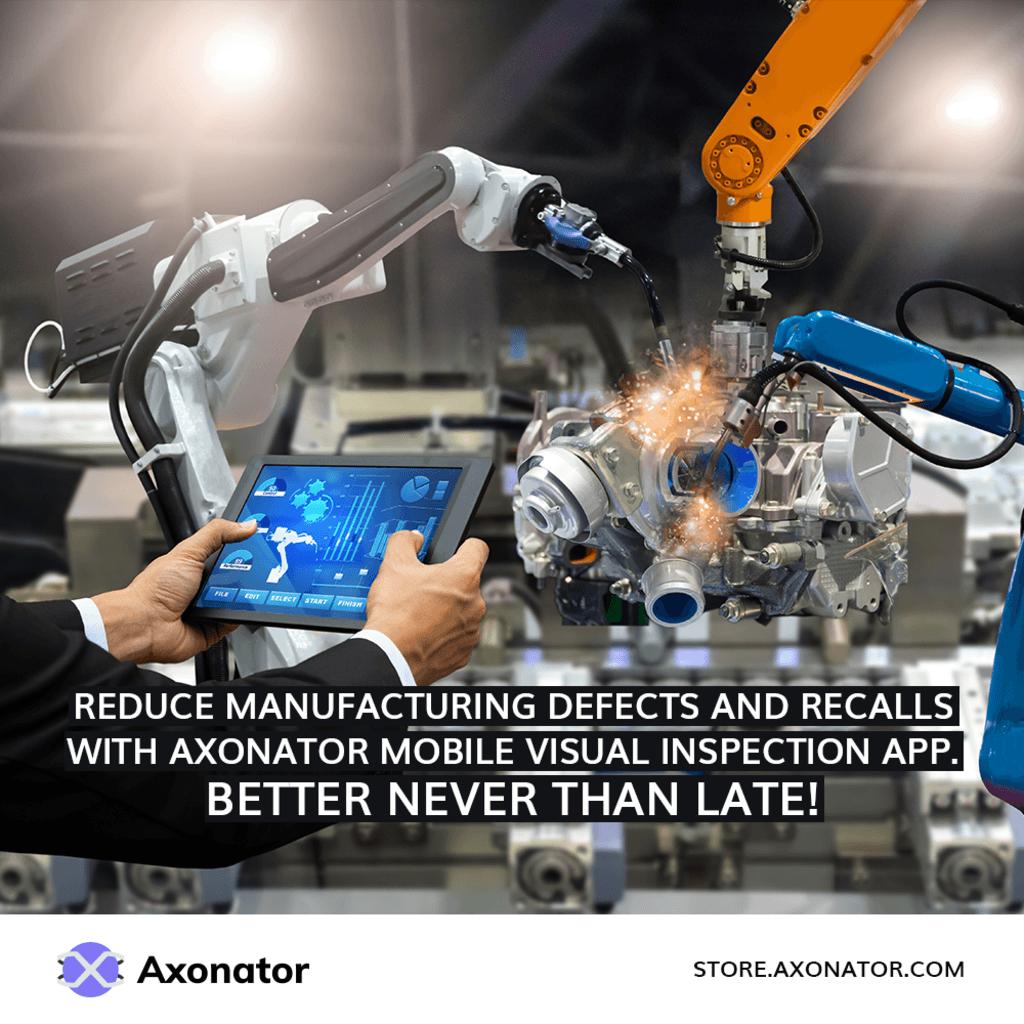 Axonator visual inspection mobile app via Axonator