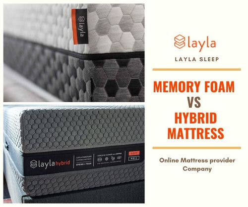 Memory Foam VS Hybrid Mattress - Layla Sleep Products via Layla Sleep