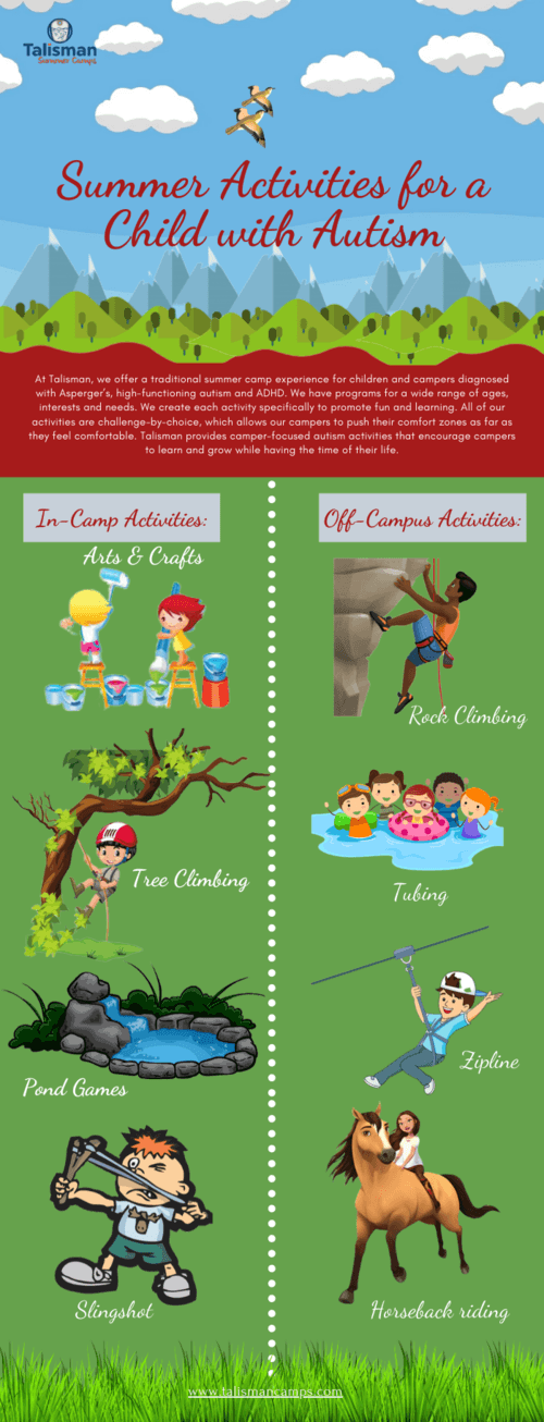 Summer Activities for a Child with Autism via Talisman Summer Camp