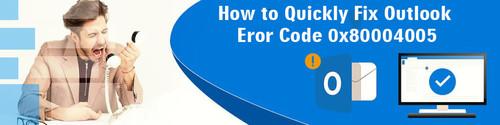 Outlook Error 0x80004005 | Window 10 Error Code 0x80004005