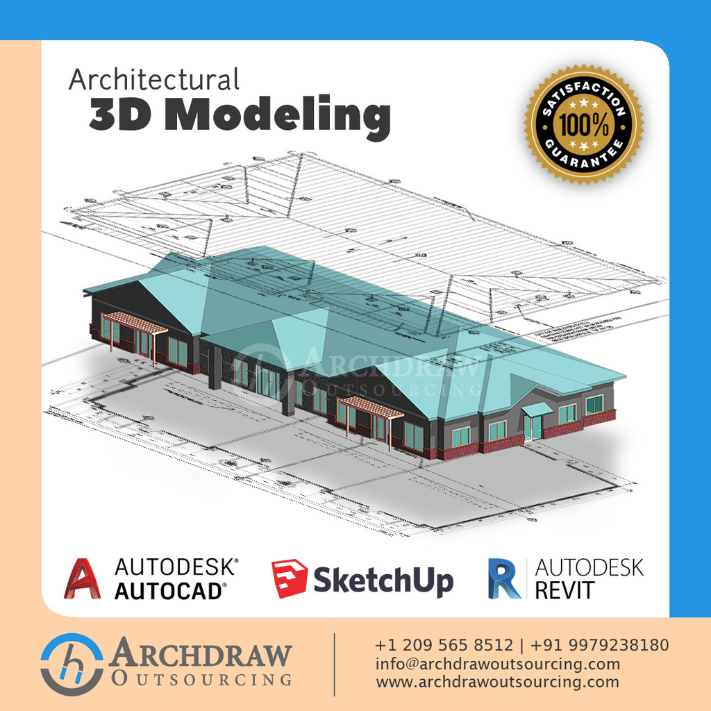 Architectural 3D Modeling - Archdraw Outsourcing via Archdraw Outsourcing