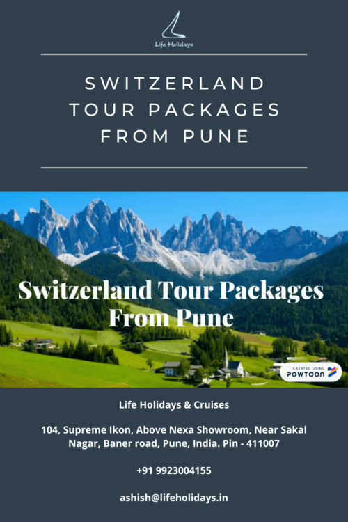 Switzerland tour packages from Pune via Life Holidays