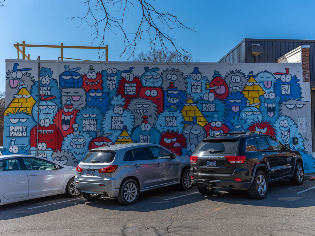 Monsters Wall outside Trophy Brewery and Pizza in Raleigh, N... via Liam Douglas - Professional Photographer
