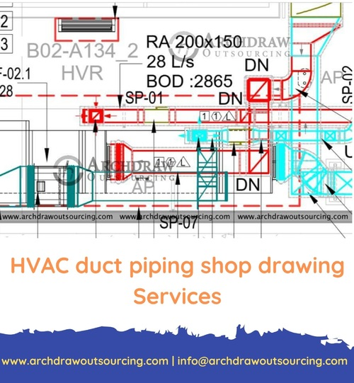 HVAC Duct Shop Drawing Services – Archdraw Outsourcing via C.Chudasama