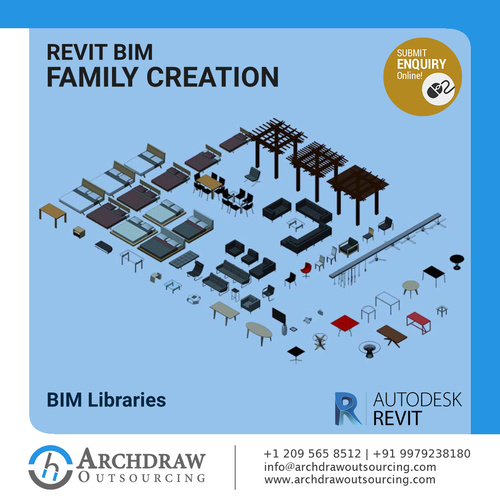 Get high-quality Revit BIM Family Creation Services via C.Chudasama