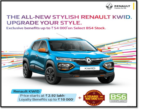Get the Best Offers on Renault KWID via Manas Sharma