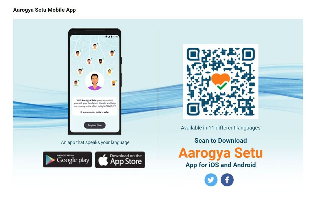 Aarogya Setu App                                         Check out the Aarogya Setu App Download Pro... via TechnoMusk