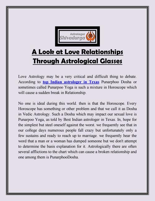 A Look at Love Relationships Through Astrological Glasses