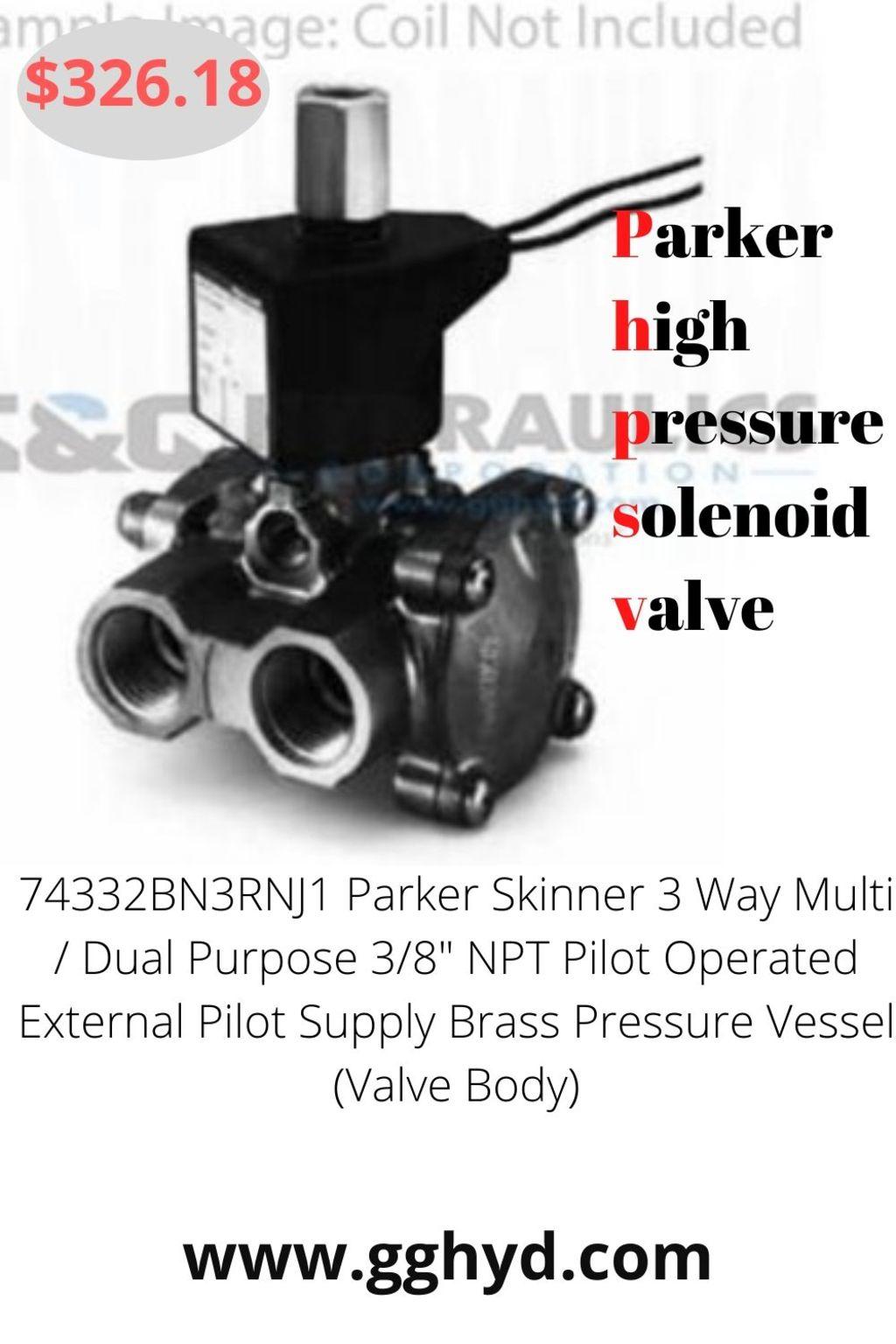 Parker High Pressure Solenoid Valve via G&G Hydraulics Corporations