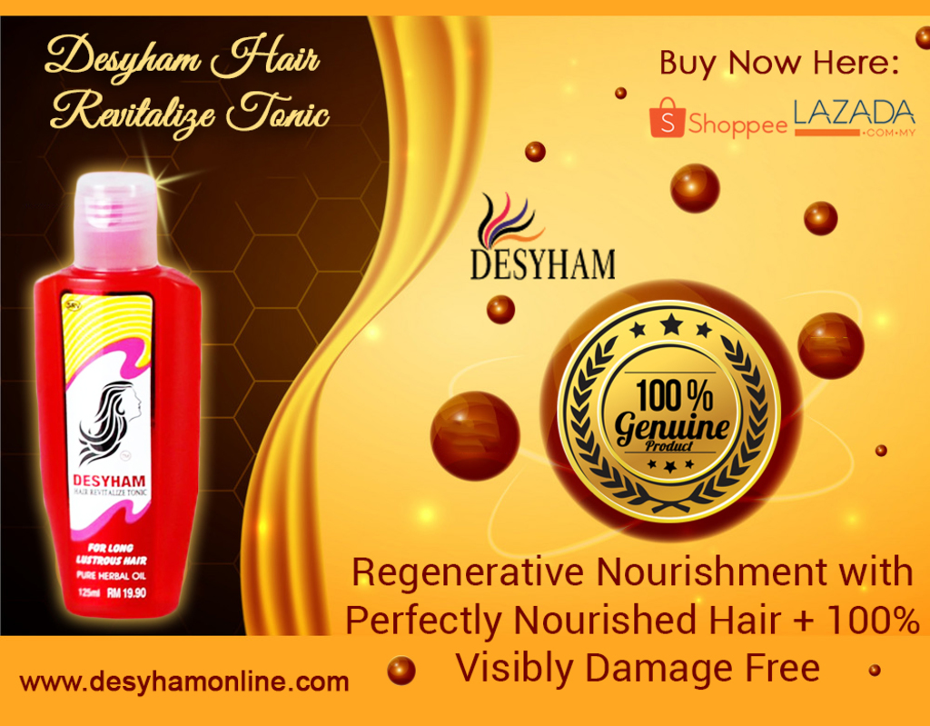 Desyham Hair Revitalize Tonic helps revitalizing your hair &... via Desyham