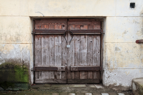 An old wooden hatch on an old brick wall at Tallinn, Estonia... via Jukka Heinovirta