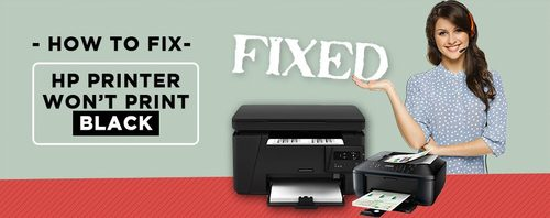 HP Printer Won't Print in Black: How to Fix This Issue?- HP Printer Support