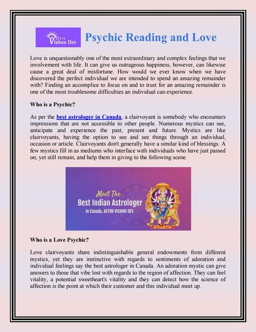 Psychic Reading and Love