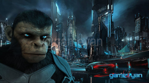 Cinematic 3D Character of Kung Fu Ape - sci-fi Cartoon feature film