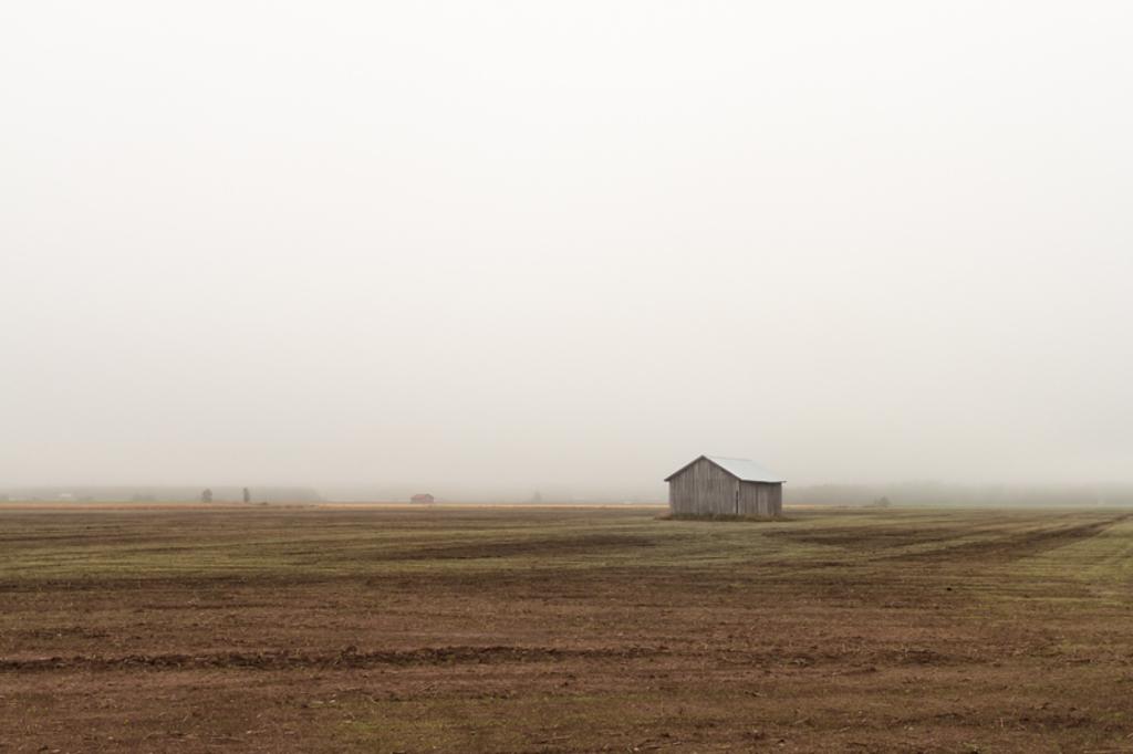 The heavy summer fog coverst the fields and the barn houses ... via Jukka Heinovirta