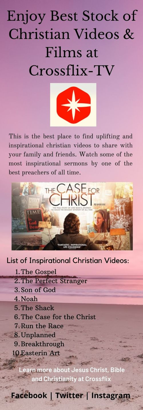 Enjoy Unlimited Christian Entertainment and Educational Cont... via Cross flix