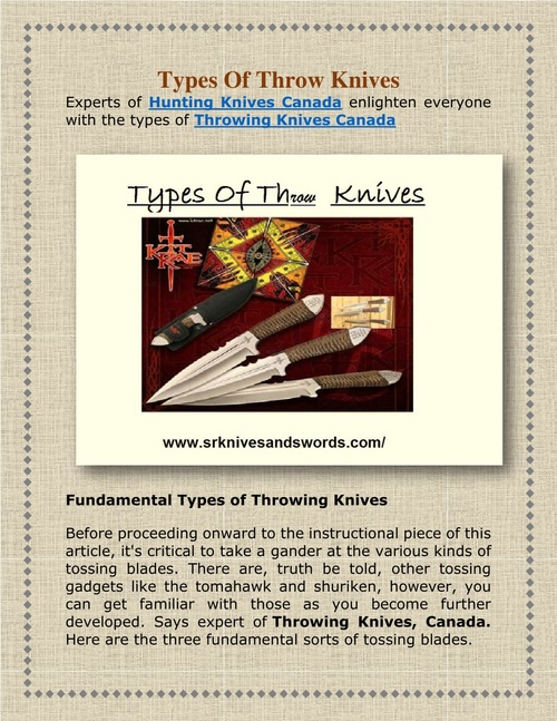 Types Of Throw Knives