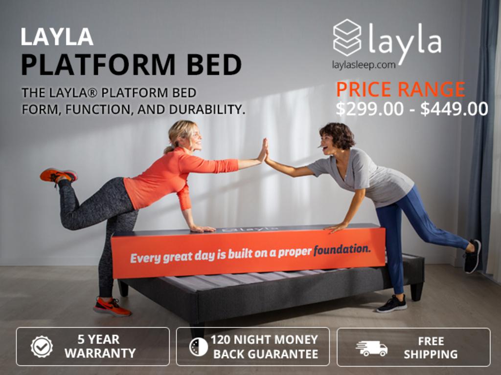 Layla Platform Bed sets for your lifestyle via Layla Sleep