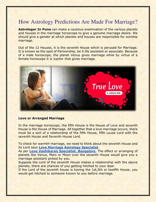 How Astrology Predictions Are Made For Marriage?