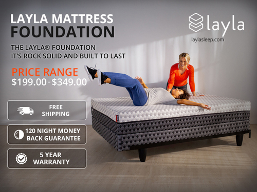 Layla Mattress Foundation - Sleep Products via Layla Sleep
