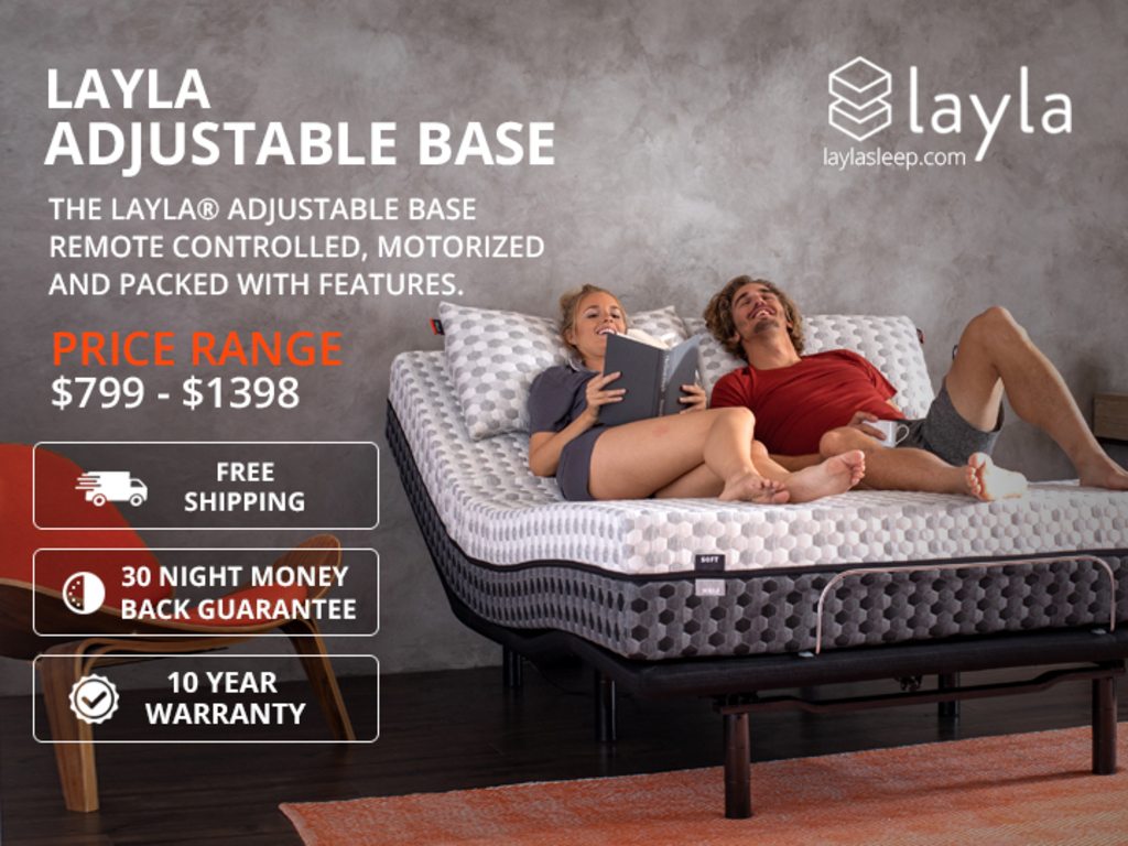 Shop for Layla Adjustable Base with remote-controlled comfor... via Layla Sleep