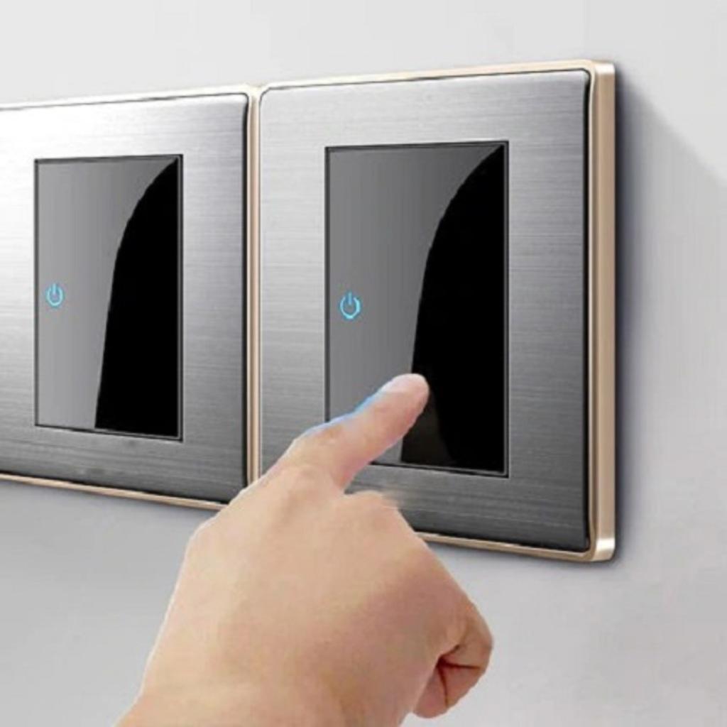 Touch Wall Switch EU Wall Socket USB Wall Socket EU 2 Gang 1... via Stash&StowFlair
