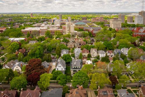 Milwaukee, WI / USA - May 30, 2020: Aerial view of Milwaukee... via JamesMeyerMedia