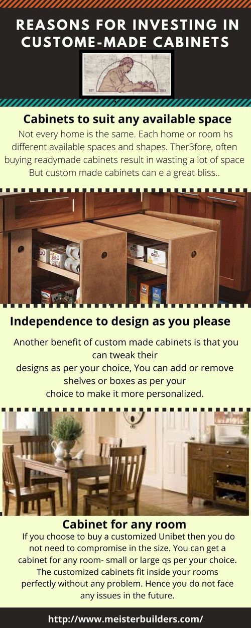 Reasons for Investing in Custome-made Cabinets                                     Are you looki... via Meisterbuilders, Inc.
