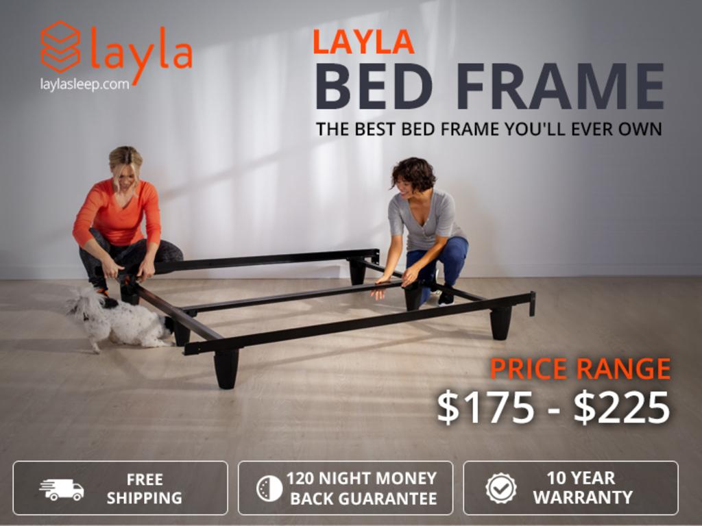 Layla Bed Frame - Platform Bed Frame Queen via Layla Sleep
