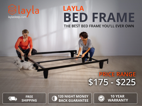 Layla Bed Frame - Platform Bed Frame Queen via Layla Sleep