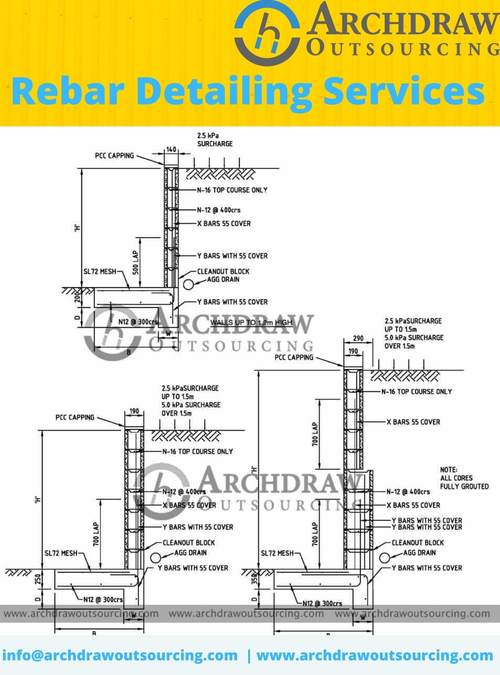 High accurate Rebar Detaling service in Australia via C.Chudasama